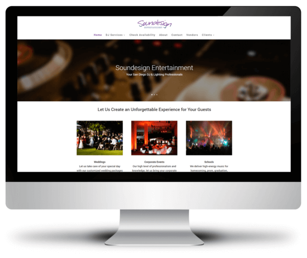 Responsive Website Design – Soundesign Entertainment
