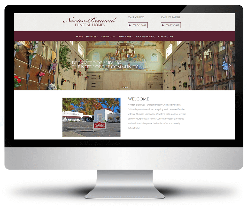 Funeral Home Website Design Bedroom And Living Room Image